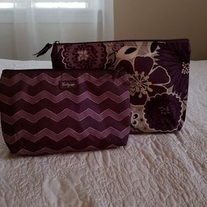 Set of 2 purple Thirty-One pouches